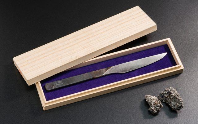 玉鋼製 刀子型小刀づくり